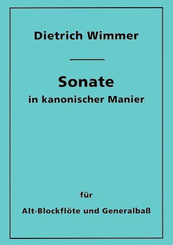 Kanonische Sonate Flöte Titel